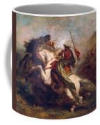 Collision Of Moorish Horsemen Coffee Mug