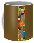 Color Panels With Blue Sky Coffee Mug by Michelle Calkins