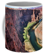 Colorado River Flows Around Horseshoe Bend  Coffee Mug