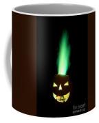 Colored Flame In Burning Pumpkin Coffee Mug
