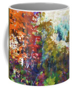 Colorful Autumn Trees In Forest Coffee Mug