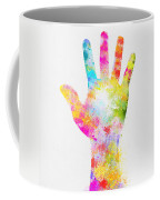 Colorful Painting Of Hand Coffee Mug