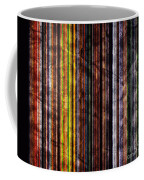 Colorful Vertical Stripes Background In Vintage Retro Style Coffee Mug