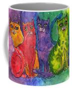 Colourful Cats Coffee Mug