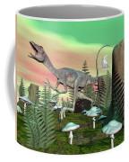 Compsognathus Dinosaur - 3d Render Coffee Mug