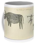 Copies After San Rock-paintings Of An Ox, A Baboon, And A Man, Robert Jacob Gordon, 1777 Coffee Mug