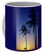 Couple And Sunset Palms Coffee Mug