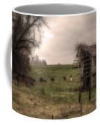 Cows In A Field By A Barn Coffee Mug
