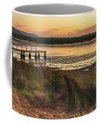 Dawn Waterscape And Wharf Coffee Mug