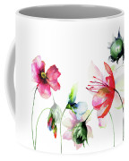 Decorative Wild Flowers Coffee Mug