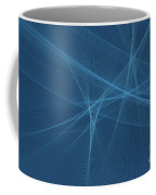 Deep Sea Computer Graphic Line Pattern Coffee Mug