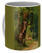 Deer In The Forest, 1868 Coffee Mug