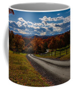 Dirt Road Through Vermont Fall Foliage Coffee Mug