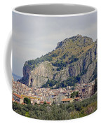 Distant View Of Cefalu Sicily  Coffee Mug