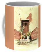 Door With Pots Coffee Mug by Sam Sidders