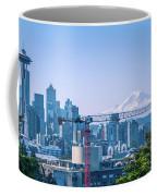 Downtown Cityscape View Of Seattle Washington Coffee Mug