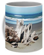 Driftwood On Beach Coffee Mug