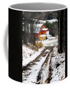 Early Winter Barn Coffee Mug
