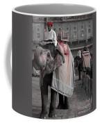 Elephant At Amber Fort Coffee Mug