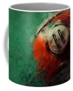 Eleven Ball Billiards Abstract Coffee Mug