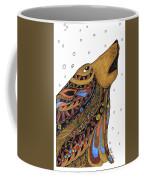 Eli Wolf Coffee Mug by Barbara McConoughey