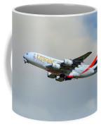 Emirates Airbus A380-861 Coffee Mug