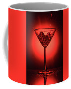 Empty Cocktail Glass On Red Background Coffee Mug