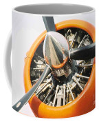 Engine And Propellers Of Aircraft Close Up Coffee Mug