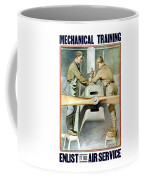 Mechanical Training - Enlist In The Air Service Coffee Mug