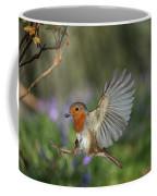 European Robin Alighting Coffee Mug