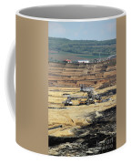 Excavators Working On Open Pit Coal Mine Coffee Mug