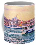 Ferry Traffic On The Bosphorus Coffee Mug