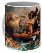 Fighting On A Bridge  Coffee Mug