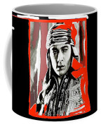 Film Homage Rudolph Valentino The Shiek 1921 Collage Color Added 2008 Coffee Mug