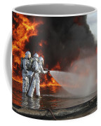 Firefighting Marines Battle A Huge Coffee Mug