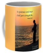 Fisherman And Sunset Coffee Mug