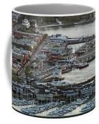 Fisherman's Wharf And Pier 39 Aerial Photo Coffee Mug