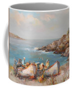 Fishermen With Boats Coffee Mug