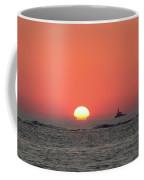 Fishing Boat At Sunrise Coffee Mug