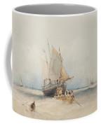 Fishing Boats Off Lowestoft Coffee Mug