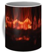 Flaming Houses Lights Water Reflection Christmas Arizona City Arizona 2005 Coffee Mug