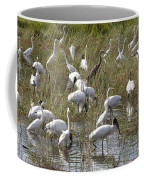 Flock Of Different Types Of Wading Birds Coffee Mug