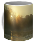 Foggy Mississippi River Sunrise Coffee Mug