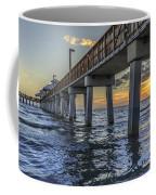 Fort Myers Beach Fishing Pier Coffee Mug by Edward Fielding