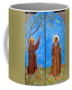 Francis And Claire Triptych Coffee Mug