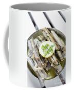 Fresh Razor Shell Seafood Steamed In Garlic Herb Wine Sauce Coffee Mug