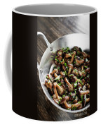 Fried Shiitake Mushrooms In Garlic Herb And Olive Oil Snack Coffee Mug