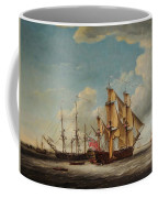 Frigates Receiving Their Captains Coffee Mug