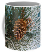 Frosty Pine Needles And Pine Cones Coffee Mug