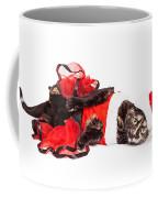 Funny Christmas Santa Cat Laying Coffee Mug